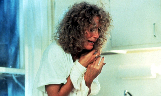 Insensitive: Glenn Close in Fatal Attraction.